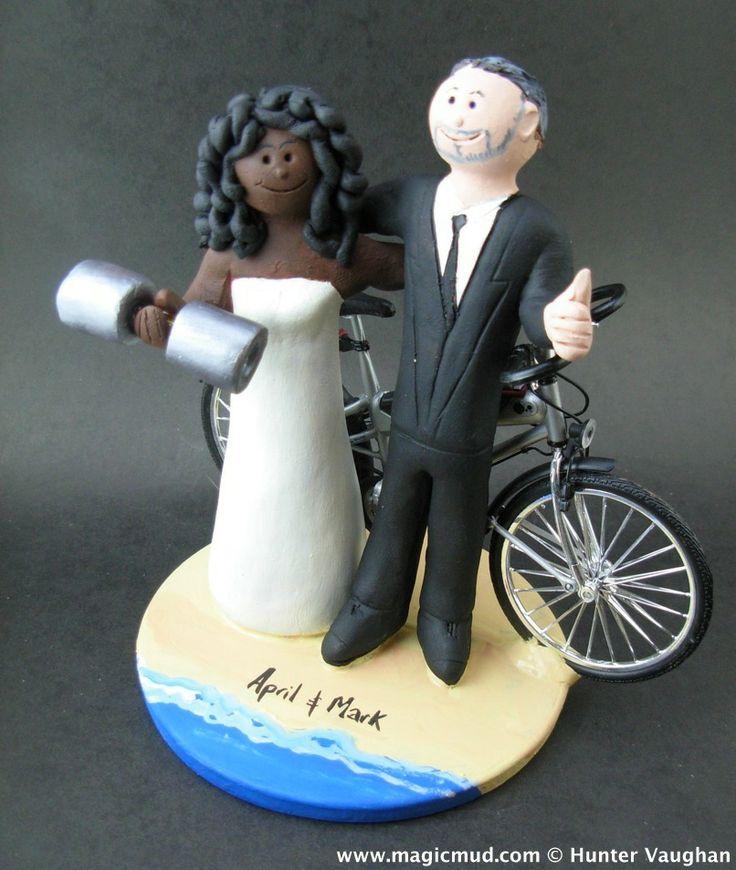Female Weight Lifter Wedding Cake Topper  by www.magicmud.com 1 800 231 9814 mailto:magicmud@m... blog.magicmud.com twitter.com/... www.facebook.com/...  Beach destination and beachside wedding cake toppers made to order keywords:  #beach #beachDestination #surf #ocean #destination #hawaiian-wedding #caribbeanwedding#wedding #cake #toppers #custom #personalized #Groom #bride #anniversary #birthdayGift #weddingcaketoppers #caketoppers #destinationWedding