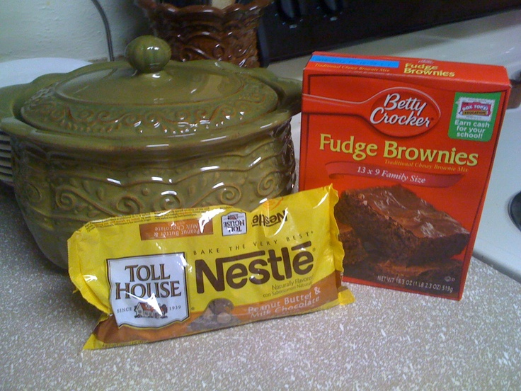 Peanut-butter Fudge Brownie Dessert    1 box of Fudge Brownie Mix  1 small bag of peanut butter chips  1 Celebrating Home Bean Pot    1. Mix Fudge mix in Bean Pot just as directions call for (eggs, water, oil..) mix well  2. Pour entire nag of chips into bean Pot on to wet brownie batter  3. Place lid on Bean Pot and microwave 12-14min    Serve with single scoop vanilla ice cream    *Need a Bean Pot? www.CelebratingYourHome.com  *Recipe from my sweet friend Michelle G. Smith…
