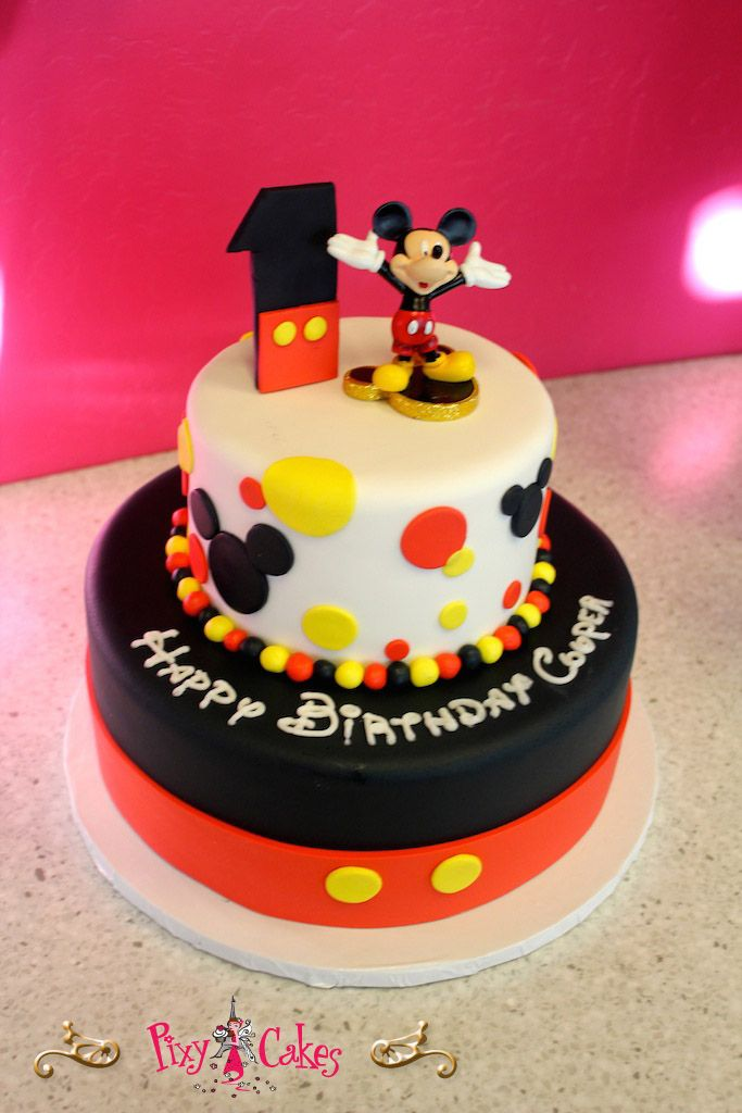 mickey mouse fondant birthday cake - Google Search