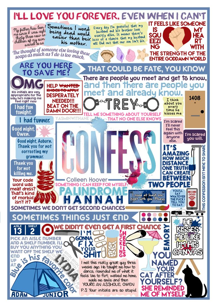 Book Collage based on Confess by Colleen Hoover. If you haven't read this/ any Colleen Hoover book, GO READ THEM ALL NOW! (I recommend Hopeless most of all) You can see the rest of my Colleen Hoover collages HERE And just all my book collages in...
