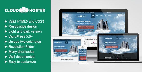 Cloud Hoster - Responsive Modern Hosting Theme   Technology   Hosting Wordpress Theme