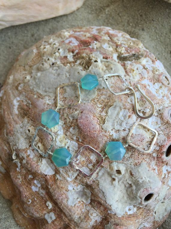 Fine Fused Silver and Chalcedony Stone Wire by calicoastjewelry