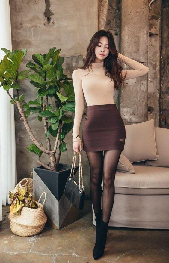 ac074e09cc 60+ Never Failed Chic Long Sleeve ang Mini Skirt Outfits Ideas   styℓish  apparel .   Fashion, Korean fashion trends, Outfits