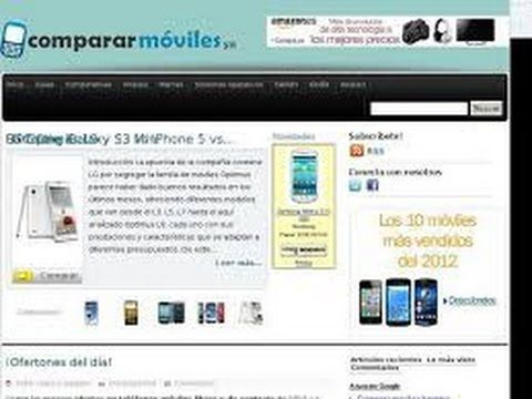 COMPARAR MOVILES  Comparaiva de Moviles Libres