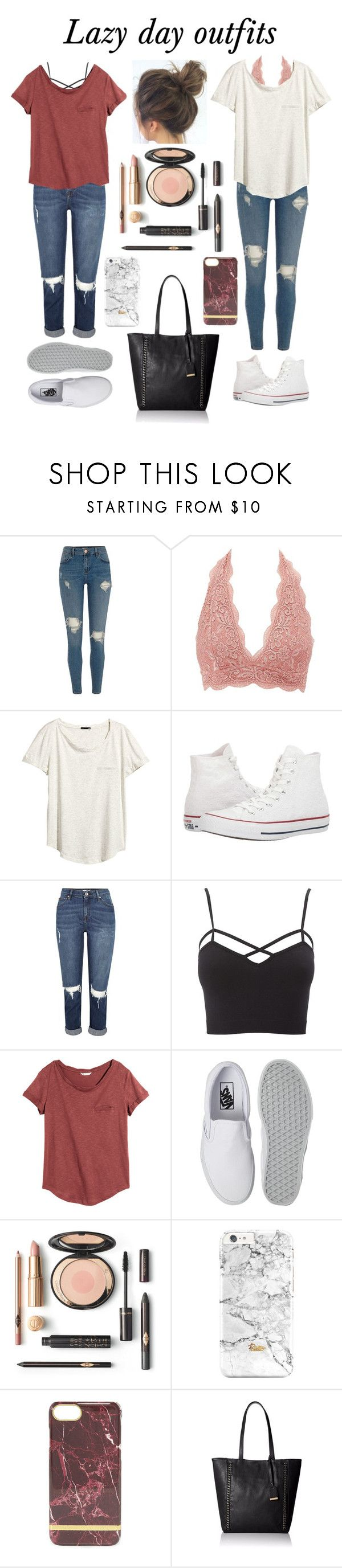 """Lazy day outfits"" by virtuallydressed ❤ liked on Polyvore featuring River Island, Charlotte Russe, H&M, Converse, Vans, Call it SPRING and plus size clothing"