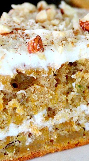 Pumkin Cake with Lemon Cream Cheese Frosting