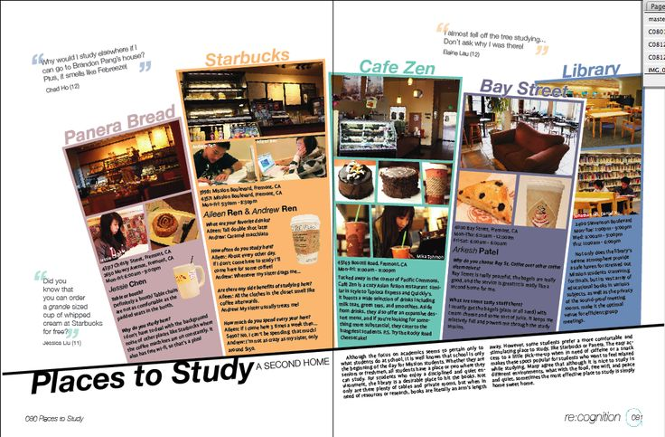 January 2010. Student Life page in high school yearbook