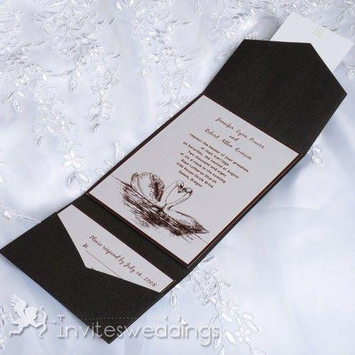 Best Online Wedding Invitations: 19 Best Pocket Wedding Invitations Images On Pinterest