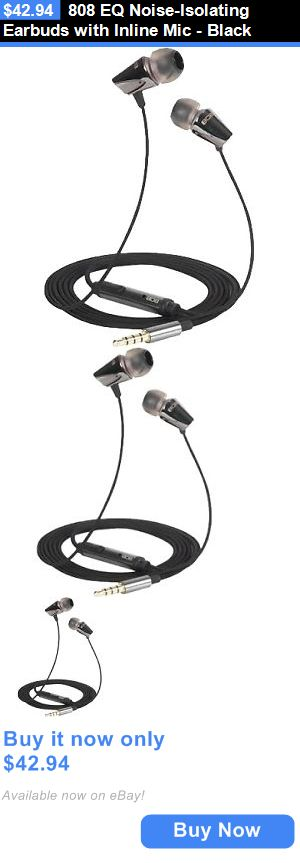 Headphone Cord Winders: 808 Eq Noise-Isolating Earbuds With Inline Mic - Black BUY IT NOW ONLY: $42.94
