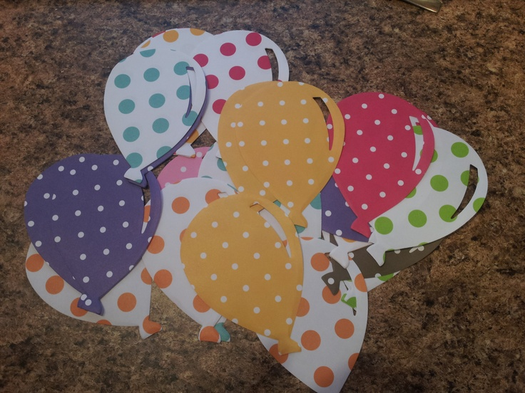 My die-cut balloons for me birthday pixie sticks!