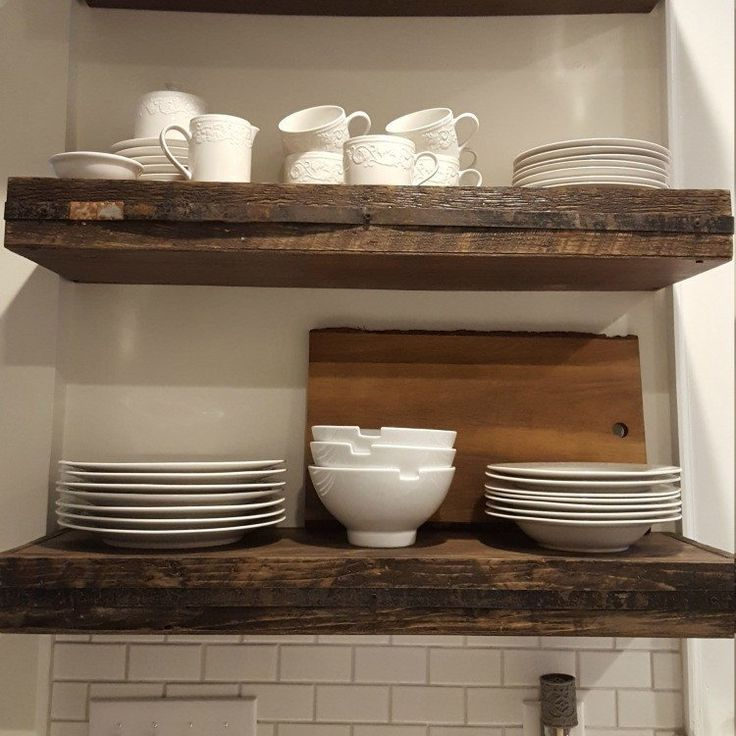 Barnwood Stained Metal Banded Floating Shelves Closet Shelveskitchen Shelveskitchen Layoutkitchen Ideasikea