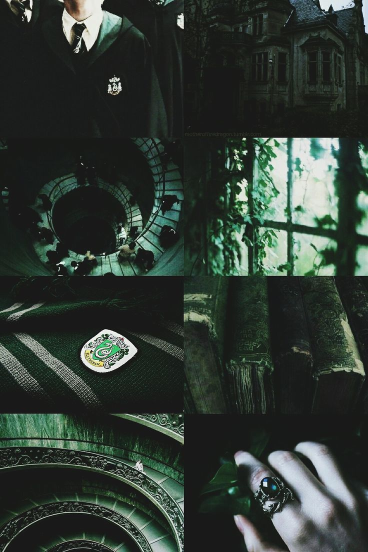 Slytherin House Pride Aesthetic Moodboard Slytherin Wallpaper