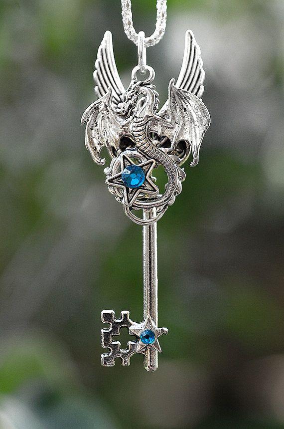 Dragon Champion Key Necklace  011 by KeypersCove on Etsy, $25.00