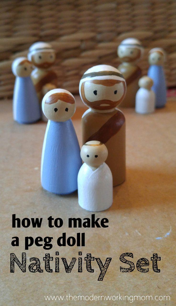 How to make a peg doll Nativity set