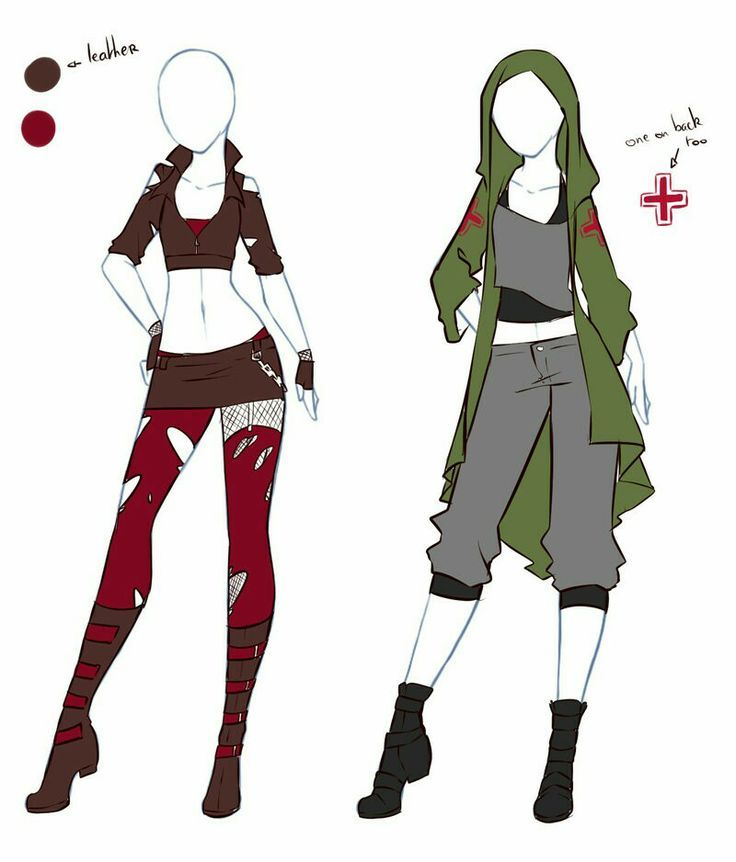 images of anime clothes: Anime Outfits, Drawing
