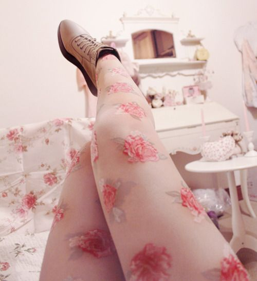 floral tights never thought i would like them