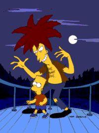 Sideshow Bob tries to kill Bart Simpson