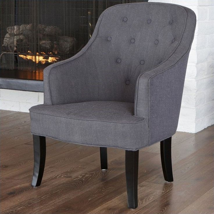 Lowest price online on all Trent Home Tufted Busch Barrel Chair in Gray…