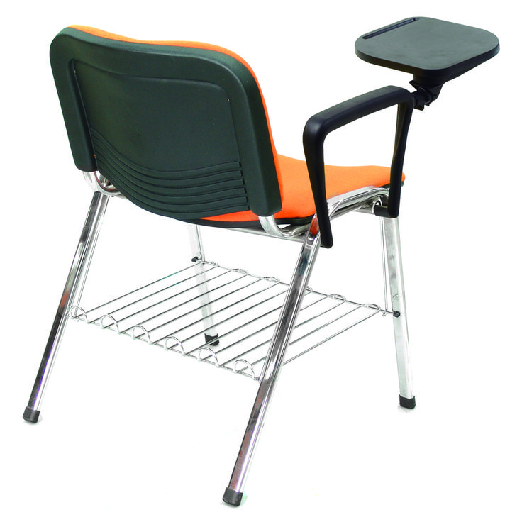 """Cadeira fixa, empilhável até no máximo 10 unidades sem braços, (com braços não é possível o empilhamento), confeccionada em tubo oval 16x30x1,50mm e tubo redondo de 3/4"""" x 1,20mm; soldados em processo MIG e pintado em epóxi pó, sendo o assento e encosto injetados com polipropileno, podendo ainda receber um chassi como opção para estofamento do assento; o chassi é injetado em polipropileno copolímero."""