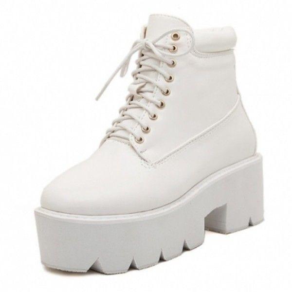 Platform boots, Boots, White platform shoes