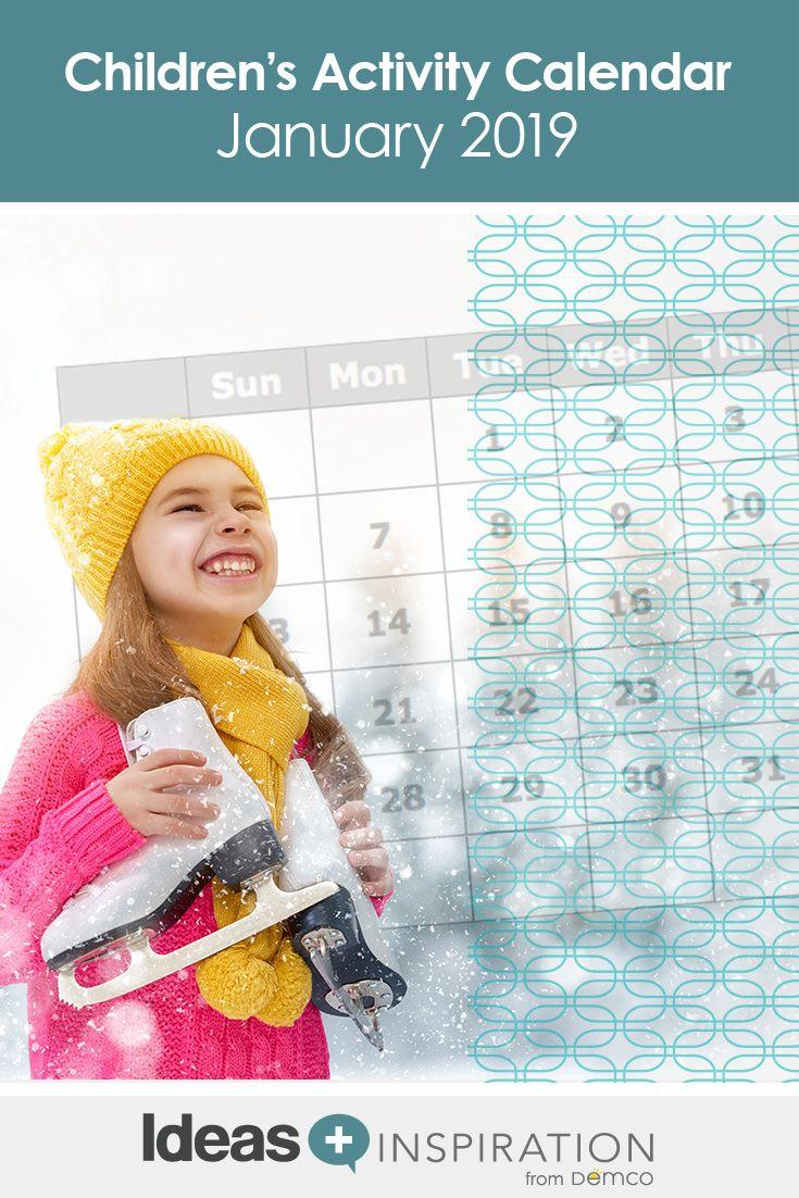 Children January 2019 Calendar Children's Activity Calendar: January 2019   Free Activity