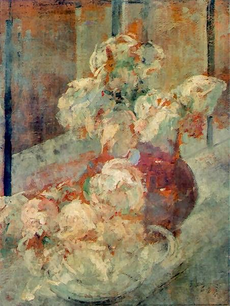 The Athenaeum - Flowers (Olga Boznańska - )