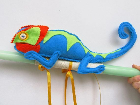 Green Easter Candle Blue Chameleon Ornament Baby Boy by mouhoxlab, $24.70