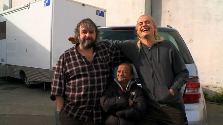 "Orlando Bloom (Legolas), Peter Jackson & Kiran Shah from ""The Hobbit: An Unexpected Journey"" Production Video #7"