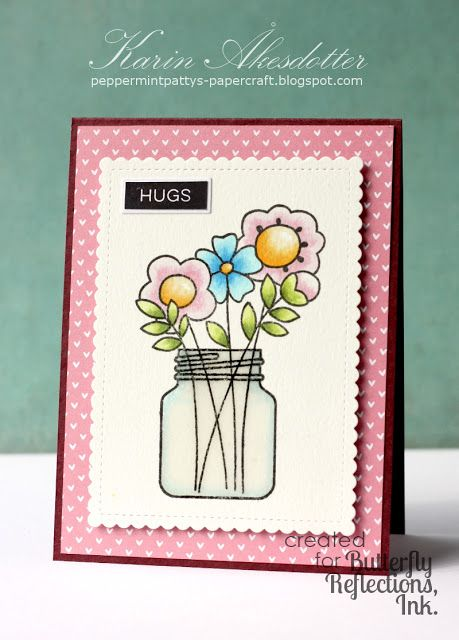 Get all the supplies for this card at Butterfly Reflections, Ink. #papersmooches