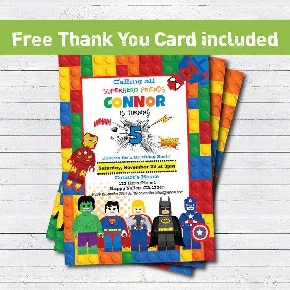 25 best ideas about Superhero Thank You Cards – Superhero Birthday Invitations Free Printable