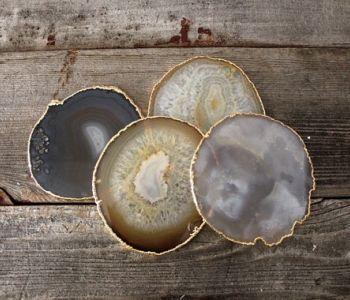 Gold Agate Coasters