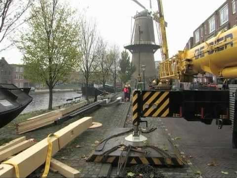 Nieuwe kap molen De Noord