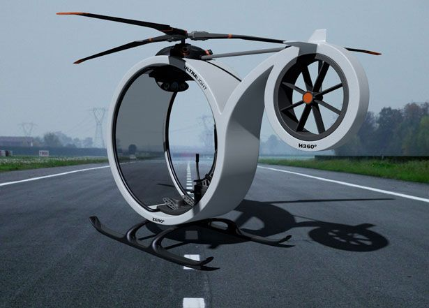 The shape of concept of helicopter creared by Spanish designer Héctor Del Amo resembles the zero. Hence it's called ZERO. This model should serve as a personal urban transport. Quite intersting solution considering size of urban congestion. Take a look!
