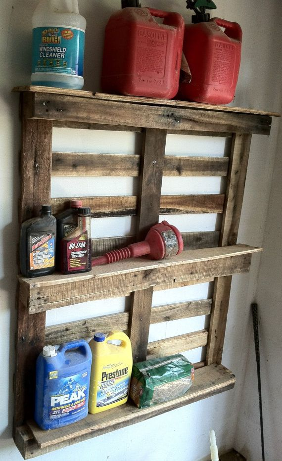 Reclaimed pallet rustic storage unit shelf 48 long X by Kustomwood, $65.00