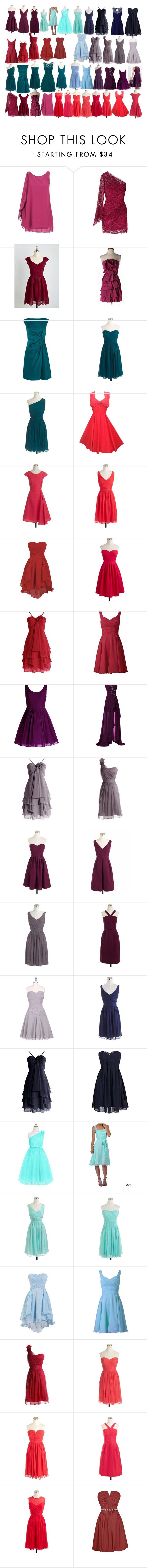 """""""Bridesmaids dresses"""" by thegreatcate ❤ liked on Polyvore featuring Bari Jay, BT London, Emilio Pucci, BCBGMAXAZRIA, Karen Millen, J.Crew and Dfi"""