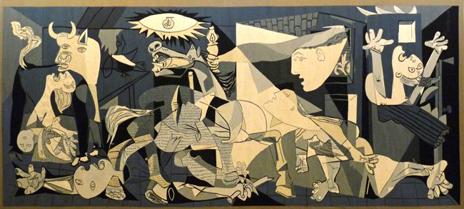 Tapisserie de Guernica, d'après Picasso, exposée au Musée Unterlinden © Jacqueline de la Baume-Durbach