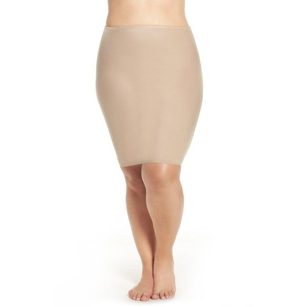Plus Size Women's Spanx 'Two-Timing' Reversible Half Slip ($58) ❤ liked on Polyvore featuring plus size women's fashion, plus size clothing, plus size intimates, plus size shapewear and plus size