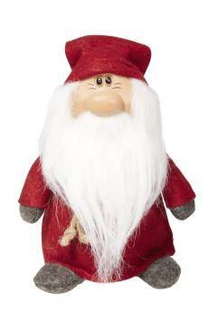 Nissemann 25cm med filtklær og skjegg