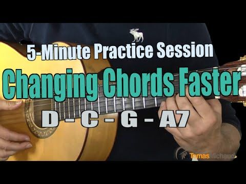5-Minute Practice Session - Exercise to Change Chords Faster D, C, G & A7  https://www.youtube.com/watch?v=zyy5v6uioJM