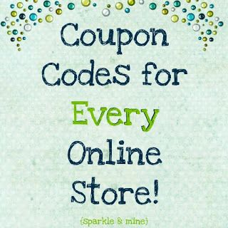 "Sparkle & Mine: Save Money Online Shopping! Blogger says, ""Never leave the coupon code behind again, ever!""."