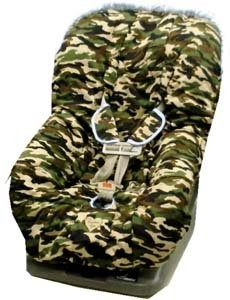 $82.35-$105.00 Baby Toodler Car Seat Cover: Daddy Camo with Blue Trim - Toodler Car Seat Cover: Daddy Camo with Blue TrimBaby Bella Maya toddler car seat covers are an attractive way to update the look of a car seat while allowing the seat to remain clean with a washable cover. Accidents are no longer a worry. The cover can be removed washed and securely placed back in the seat in a matter of mi ...