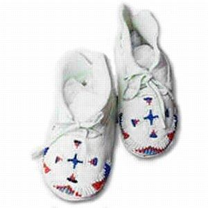 Child's Moccasins Pattern, Includes sizes from newborn to around 8 years of age, in both hard and soft sole. Complete with nicely detailed, authentic instructions.
