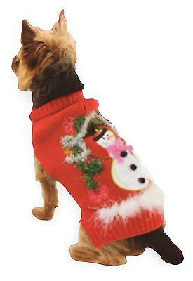 Costumes 52352: Dog Christmas Holiday Ugly Ribbed Sweater Snowman, L 16-18 Inch -> BUY IT NOW ONLY: $37.17 on eBay!