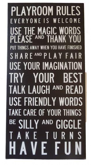 Speelkamer spelregels