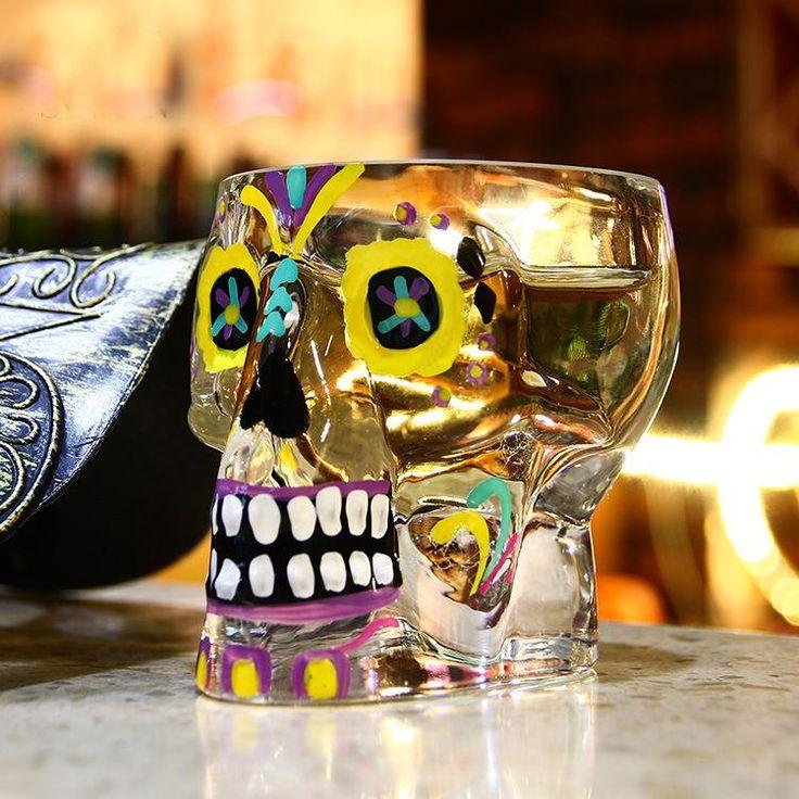 Colorful Skull Shot Glass
