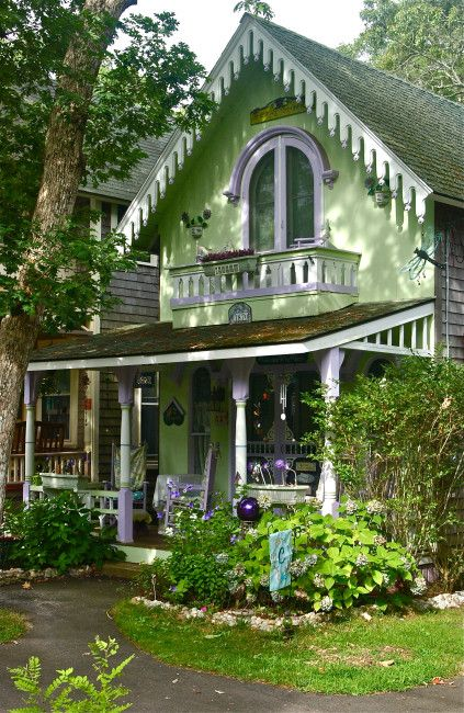 martha's vineyard cottage photos | Campground Cottages; Part Two of Two; Martha's Vineyard Campmeeting ...
