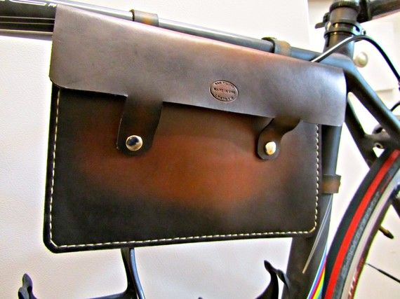 leather bike frame bag. $60