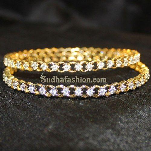 Stylish CZ Bangles - Online Shopping for Bracelets n Bangles by sudhafashion