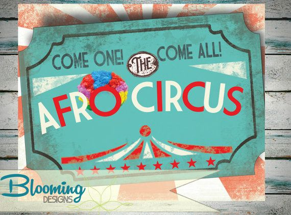 INSTANT PRINT Madagascar 3 Afro Circus by BloomingDESIGNprints