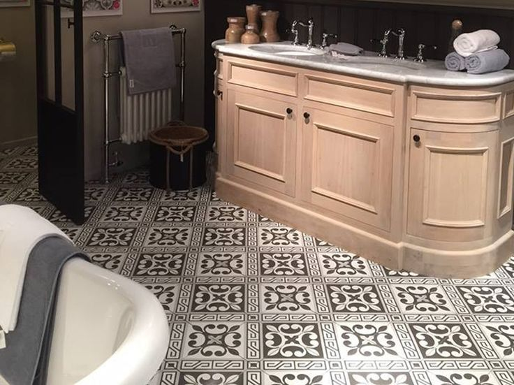 French Style Patterned Tiles Dark